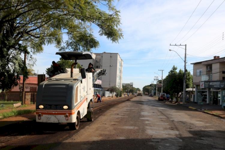 Investimentos em obras de asfalto e calçamento já somam mais de R$ 4,7 mi