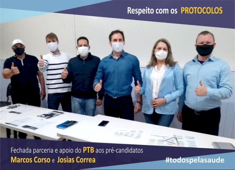 PTB vai apoiar  os pré-candidatos Corso e Josias
