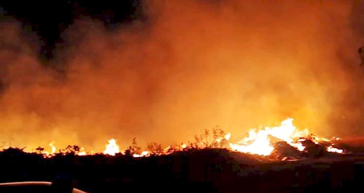 Vários incêndios foram registrados na região