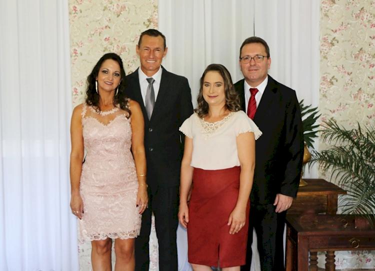 Pose dos prefeitos de São José do Inhacorá, Independência e Alegria e presidente das Câmara de Vereadores