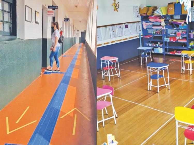 Escolas privadas estão prontas para iniciar o ano letivo