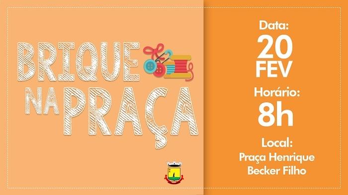 BRIQUE NA PRAÇA  SERÁ  DIA 20 DE FEVEREIRO