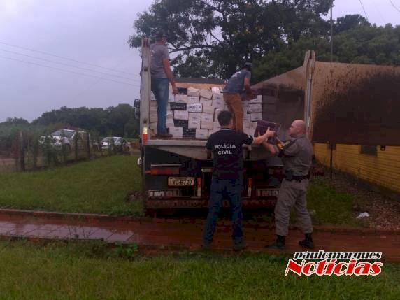 Vinhos contrabandeados são apreendidos no Interior de  Três de Maio