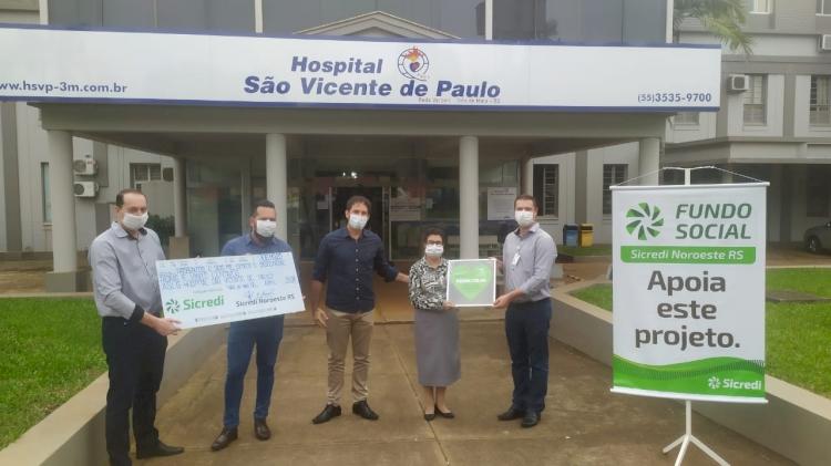 Sicredi Noroeste RS entrega mais de R$ 306 mil ao Hospital São Vicente de Paulo