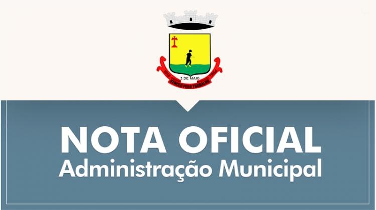 Três de maio reitera estado de Calamidade Pública e publica decretos